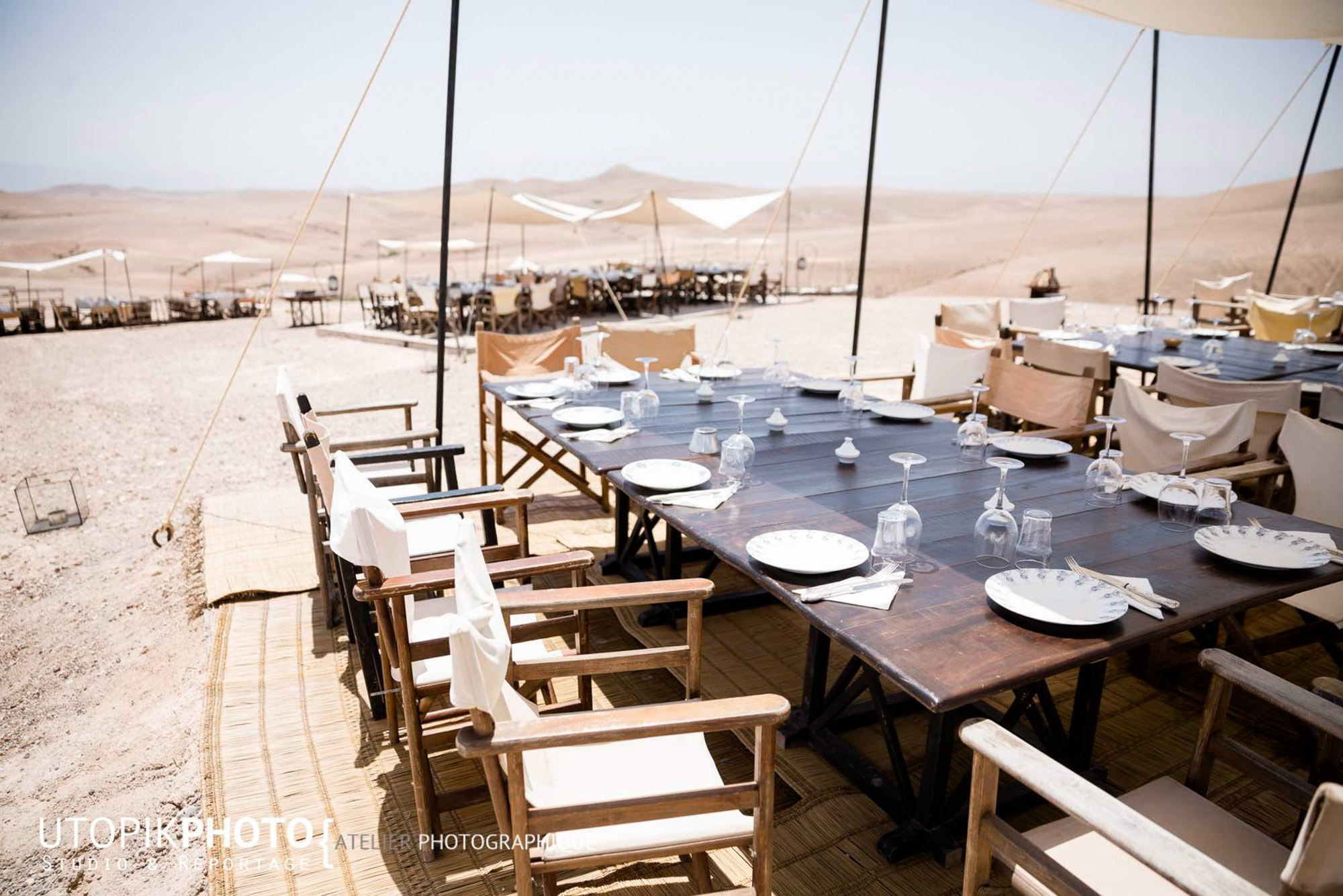 diner et déjeuner désert marrakech agafay maroc