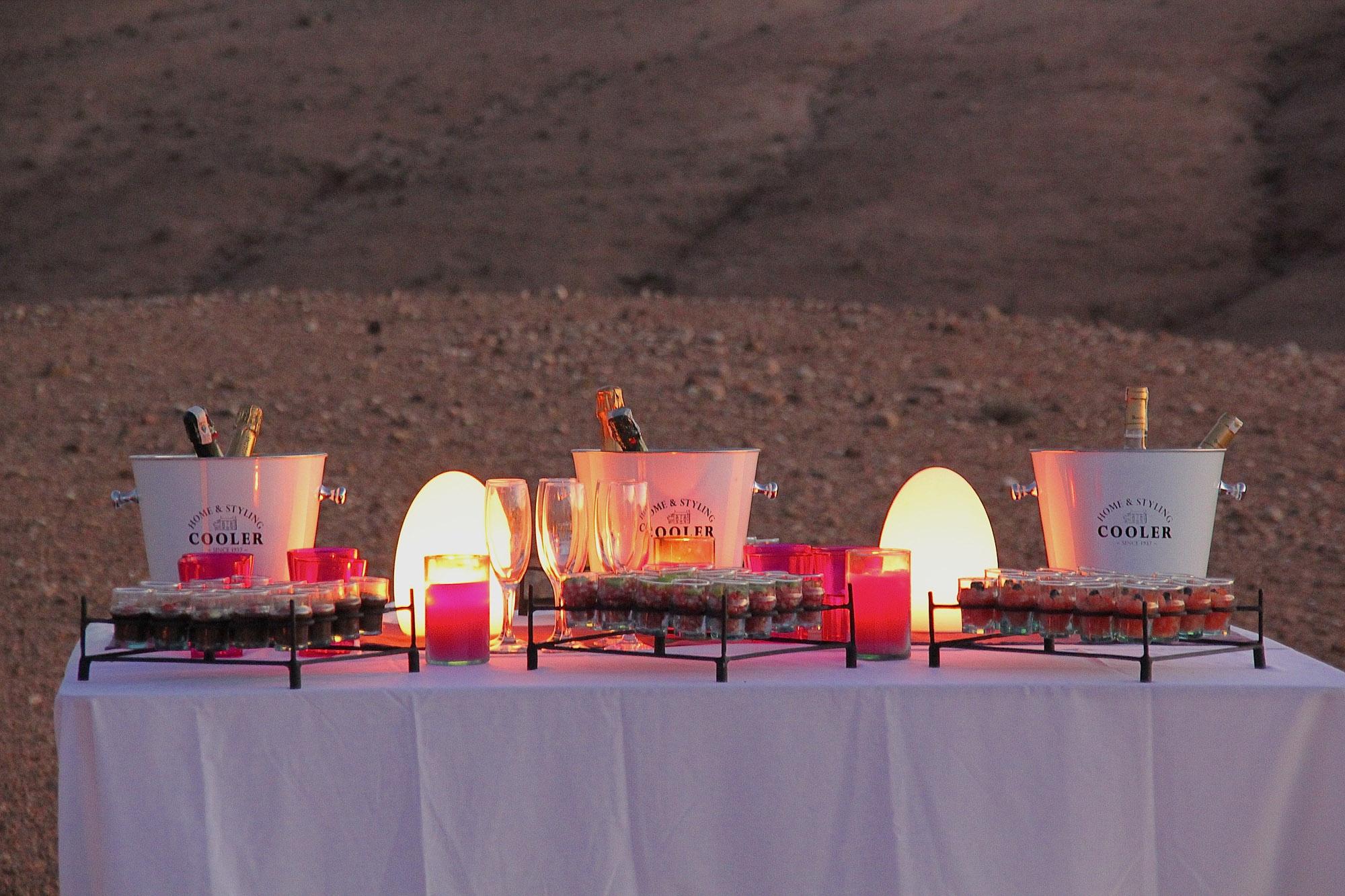 diner mariage désert marrakech agafay maroc