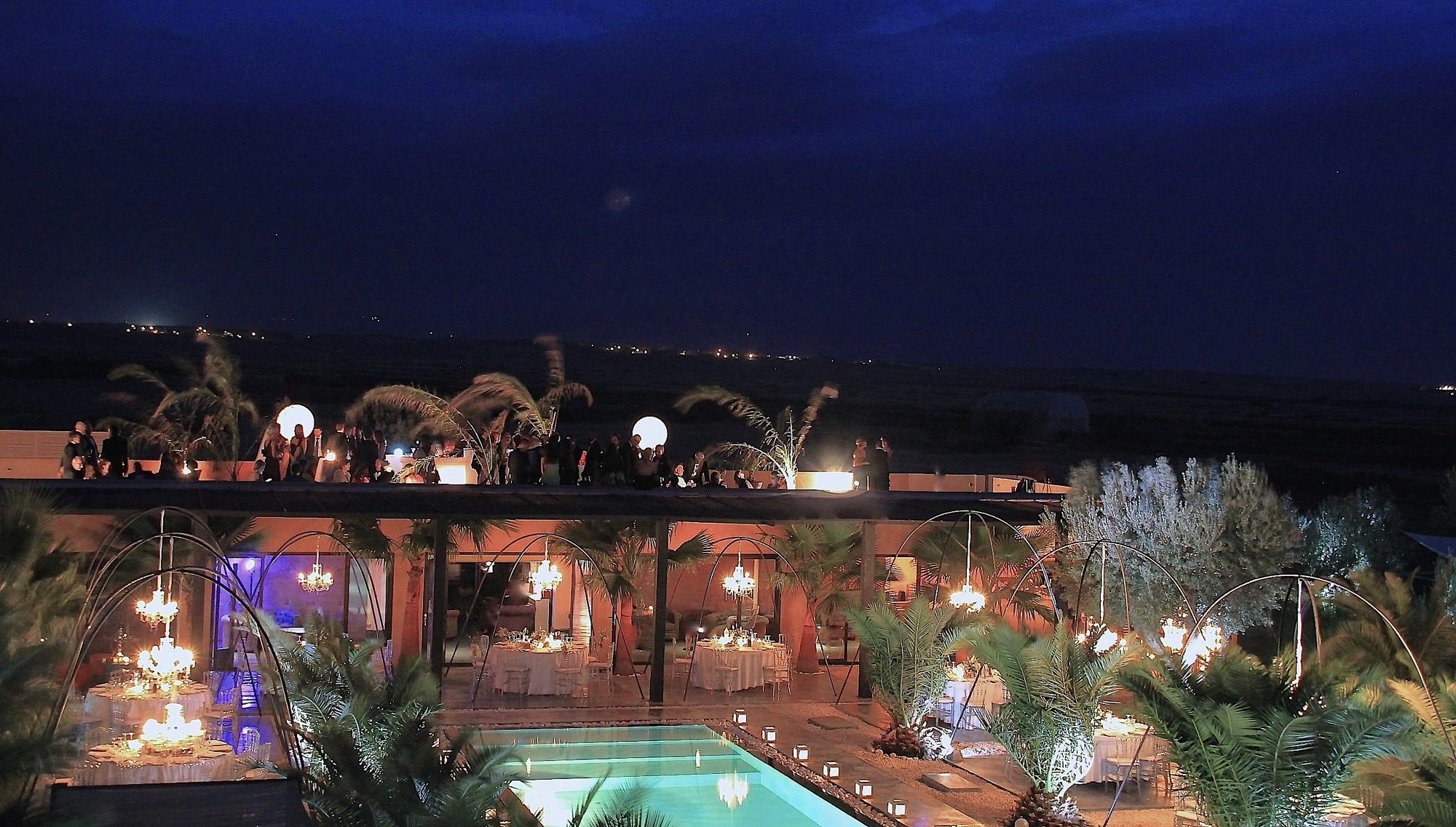 organisation de diner mariage banquet marrakech terrasse atlas