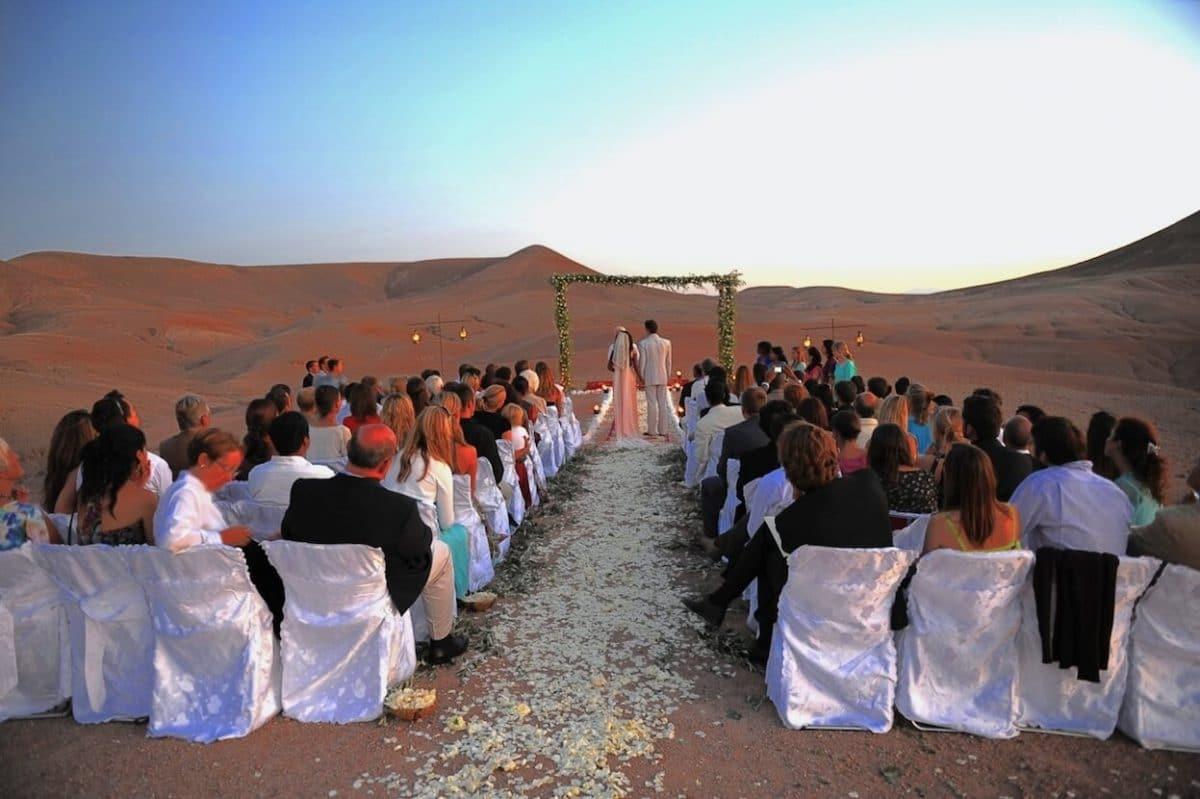 mariage desert marrakech agafay