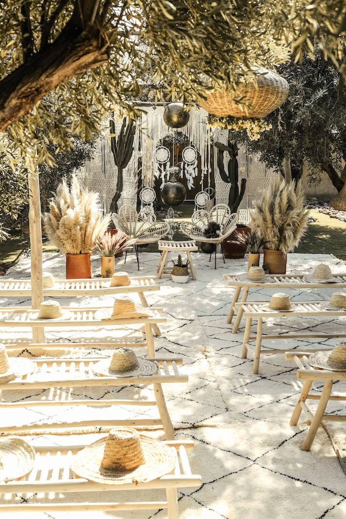 mariage boho marrakech boheme