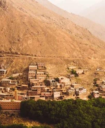 La vallée d'Imlil au Maroc, à côté de Marrakech