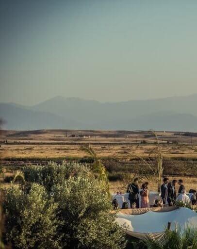 Louer une maison pour dormir dans le désert d'Agafay à Marrakech