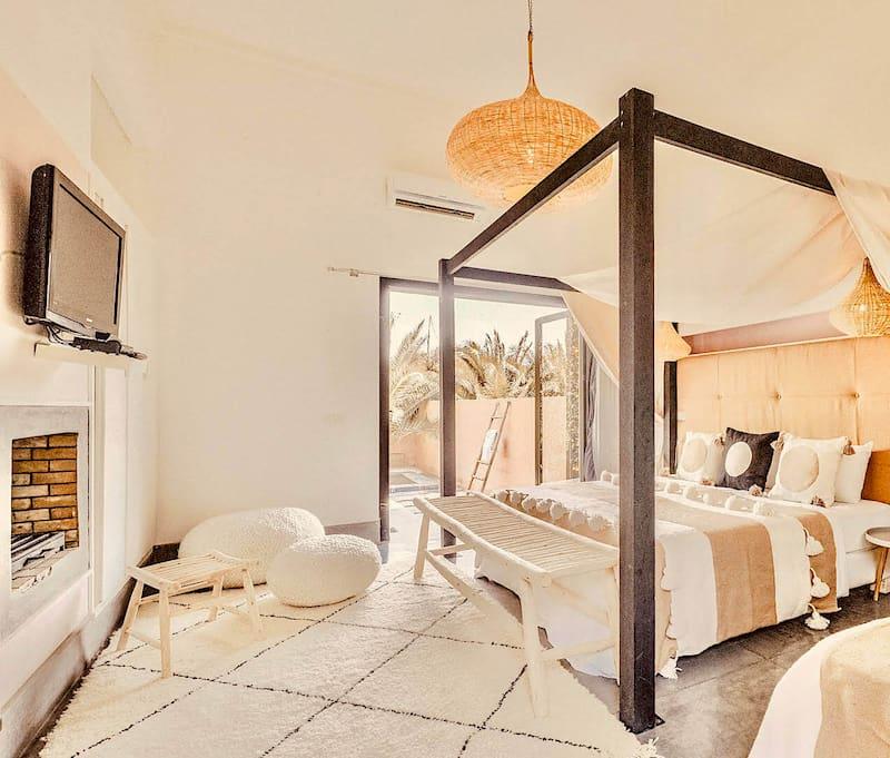 Chambre d'une villa de location de vacances