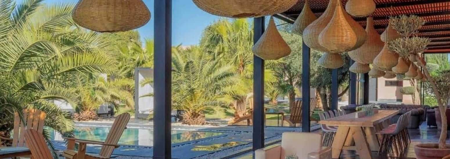 location villa vacances palmeraie marrakech