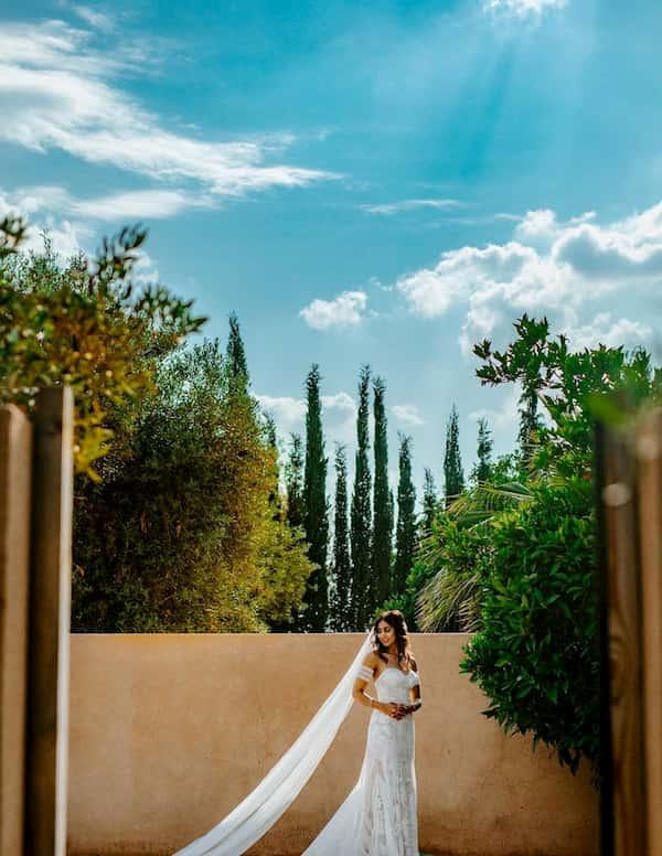 Photo d'un mariage sous le soleil de Marrakech