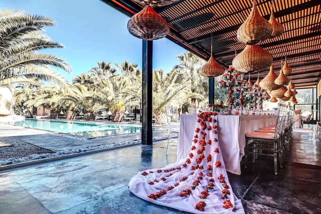Table de mariage Marrakech