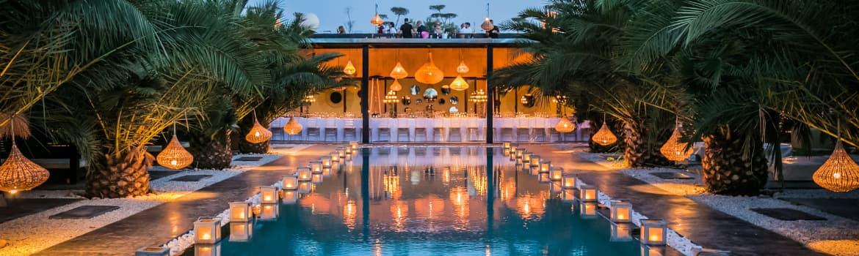 Location villa de luxe à Marrakech piscine privée chauffée