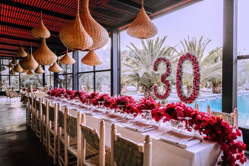 Fêter son anniversaire dans une location de villa à Marrakech.