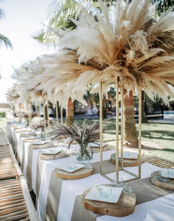 Table de mariage bohème Villa Taj Marrakech