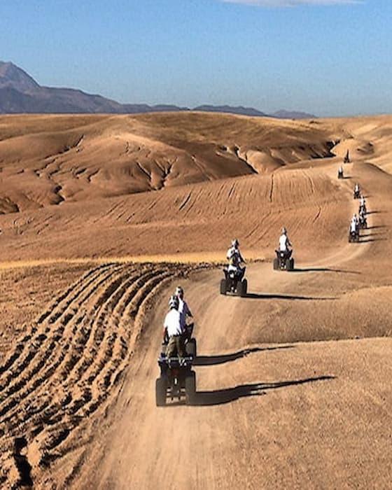 Sortie quad après un séminaire à Marrakech
