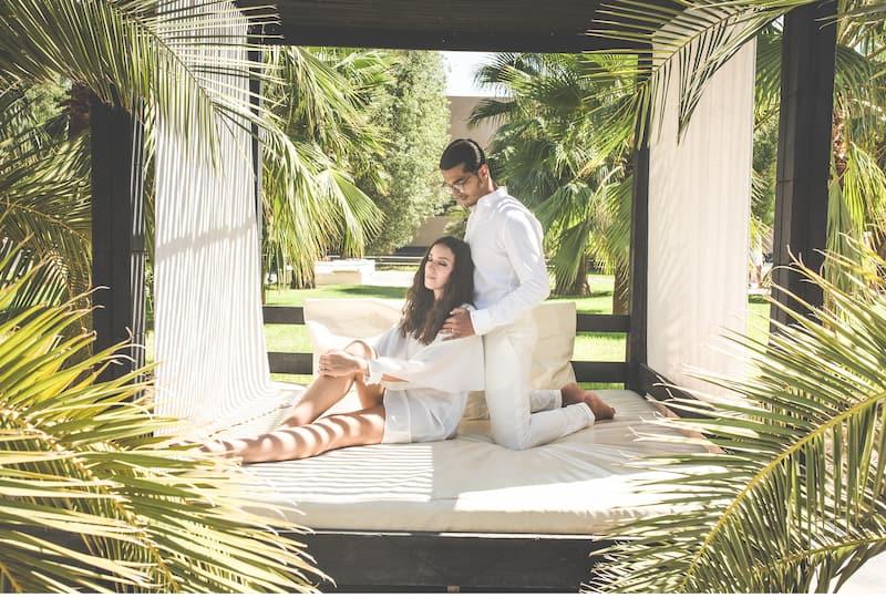 Une villa de mariage à Marrakech pour un couple en voyage de noces