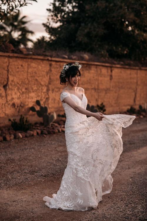 Mariée romantique à Marrakech