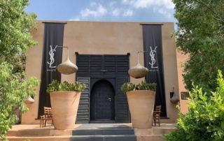 Entrée Villa Taj Marrakech décorée pour un événement YSL