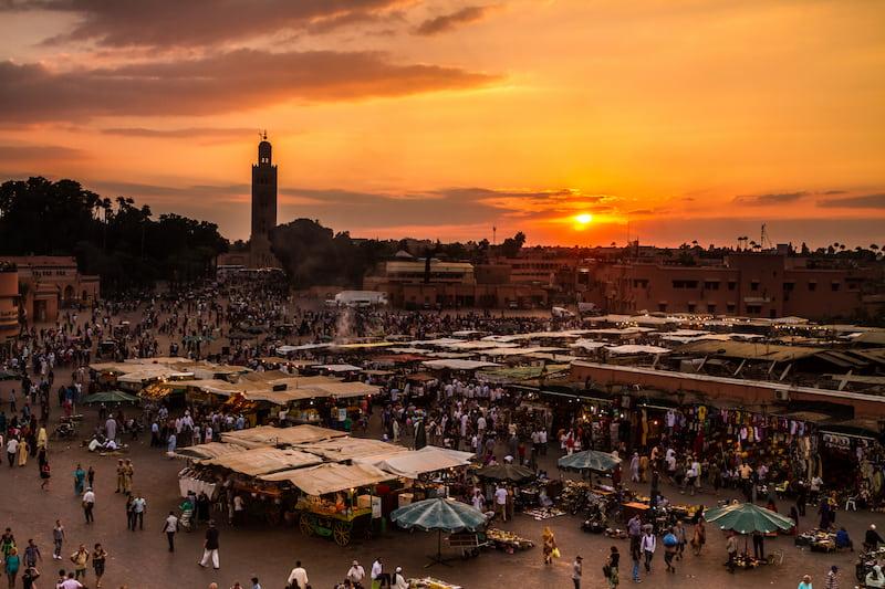Souk de la médina de Marrakech pour une activité de team building à Marrakech