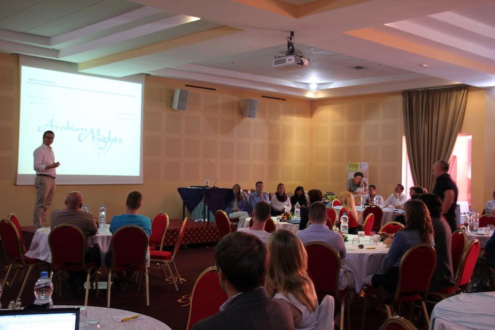 Conférence dans le cadre d'un team building à Marrakech