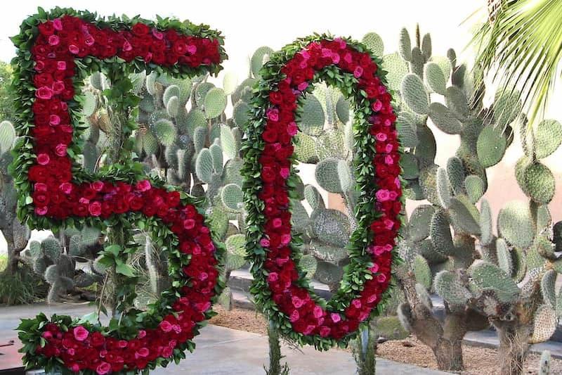 50 ans de mariage célébré dans un location de villa à Marrakech