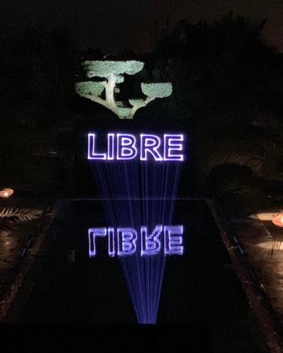 Projection pour un lancement de marque à la Villa Taj Marrakech