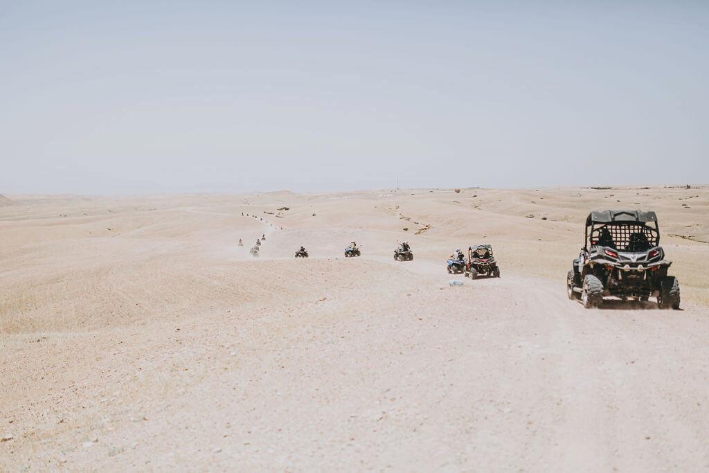 Course de quad avant jacuzzi pour la location d'une villa à Marrakech