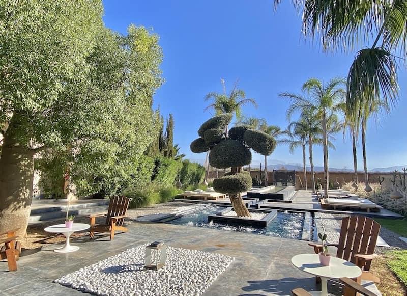 activités dans le jardin proposées par le personnel de la Villa Taj Marrakech
