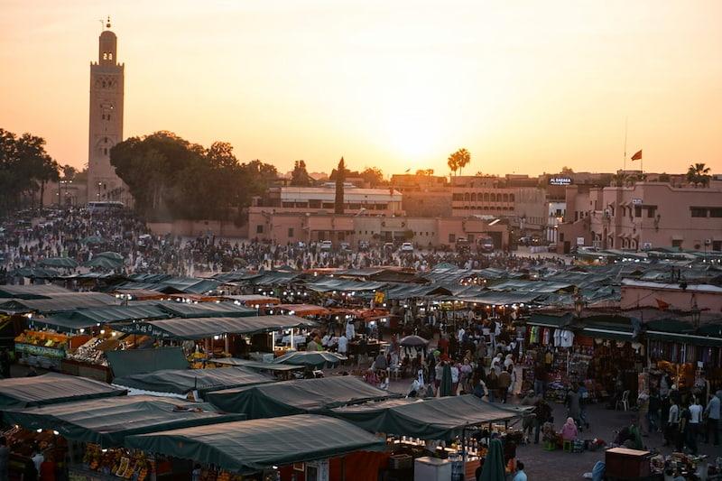 Sortie au marché de Marrakech proposée par le personnel de la villa