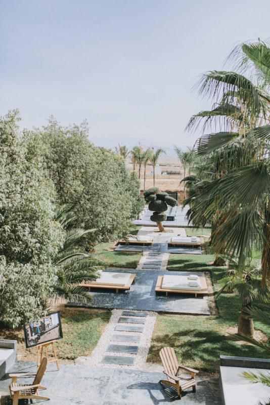 vue sur le jardin de la villa Taj Marrakech